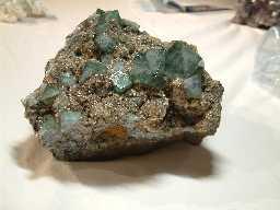 Fluorite and quartz, Heights Quarry, Eastgate