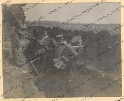 Photograph of a corporal and soldiers o...