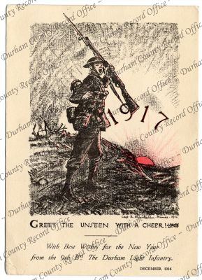 Christmas card of the 9th Battalion The...