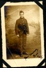 Photograph of a sergeant in a Scottish Regiment, a prisoner of war, signed: yours sincerely Nick, 9 September 1915; endorsed: A. Nicholson, 8 Ettrick Place, Newlands, Glasgow, c.1915