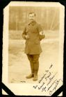 Photograph of a medical orderly, possibly a French prisoner of war, signed: En souvenir de nos heures d'esal A Guéury. Mon meilleur souvenir; endorsed: Mr Fish, c. 1914-1918