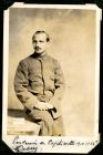 Photograph of a French officer, signed: Souvenir en Captivite 1914 15 16, G. Cully, c.1916
