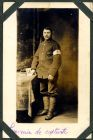 Photograph of a French medical orderly, signed: souvenir de captivite; endorsed: Serneuil Arthur a Haybes L/meuse, Ardennes, France, c.1914-18