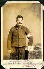 Photograph of a French medical orderly, signed à mon ami Fisch Souvenir de notre captivite [Munster] Allemagne, 12 December 191[5]; endorsed: Monsieur Auguste Defosset, Receveur D'octroi 2 Rue de la G