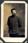 Photograph of a [French] soldier, endorsed: Souvenir d'une villégiature en Westphalie (Münster 1914-1916), Maurice [Falett], 16 Rue Suzanne, Le Mans (Sarthe) France, c.1914-18