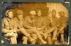 Photograph of an unidentified group of Asian and African prisoners of war, at Rennbahn, Munster, Germany, c.1914-18