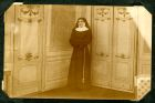 Photograph of an unidentified man dressed as a nun for theatrical entertainment, c.1914-18