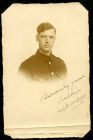 Photograph of a soldier, signed: Sincerely yours Archie, 20 September 1918; endorsed: Rennbahn, [Munster, Germany], 20 September 1918 With many thanks for many kindnesses, Archie G. Hawkes, 11 Cowland