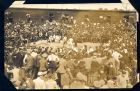 Photograph of a boxing match taking place at Rennbahn prisoner of war camp, Munster, Germany, c.1916