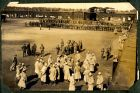 Photograph of soldiers at Rennbahn prisoner of war camp, Munster, Germany, c.1916
