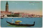 Postcard illustration captioned: Panorama, Venice, Italy, from Private Fred Lucas, Italy, to Master Fred Lucas, Black Horse, Low Fell, Gateshead, 3 August 1918