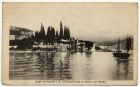 Postcard photograph captioned: S. Vigilio con la Rocca di Garda, Lago di Garda, Italy, from Private Fred Lucas, Italy, to Master Fred Lucas, Black Horse, Low Fell, Gateshead, reporting that 'we are mo
