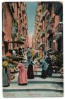 Postcard illustration captioned: Gradoni di Chiaia, Naples, Italy, from Private Fred Lucas, Italy, to Master Fred Lucas, Black Horse, Low Fell, Gateshead, reporting that 'we are on the move tomorrow f