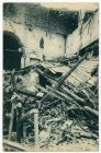 Postcard photograph captioned: Working people' s houses in centre of city destroyed by enemy aeroplane bombardment, Padua, Italy, from Private Fred Lucas, Italy, to Master Fred Lucas, Black Horse, Low