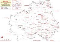 Map of Durham parish and chapelry boundaries, circa 1800