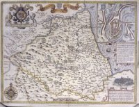 Map of the Bishoprick and Citie of Durham [1611]
