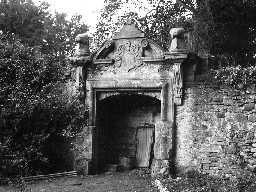 Original doorway of Cheeseburn Grange. Photo Northumberland County Council, 1956.