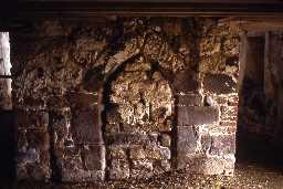 The original byre doorway of West Fenwick bastle. Photo by Peter Ryder.