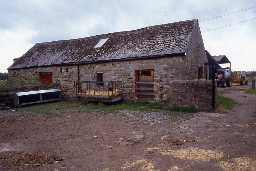 The former cruck barn at West Fenwick. Photo by Peter Ryder.
