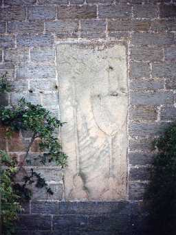 Medieval grave cover, East Shaftoe. Photo by Northumberland County Council.