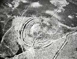 Aerial view of Lordenshaws Iron Age hillfort. Photo © Tim Gates.