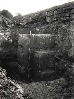 Excavation of west gate at Rudchester in 1924. Photo © Newcastle University, courtesy of the Museum of Antiquities/Society of Antiquaries of Newcastle
