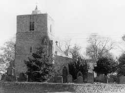 St Mary's Church, Ponteland. Photo Northumberland County Council, 1969.
