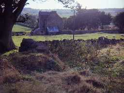 Site of Stanton Chapel with Stanton Tower behind.