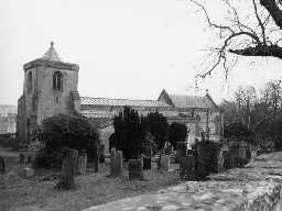 St Mary's Church, Morpeth. Photo Northumberland County Council, 1980.