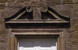 Late 17th century south door at Brinkheugh, Brinkburn. Photo by Peter Ryder.