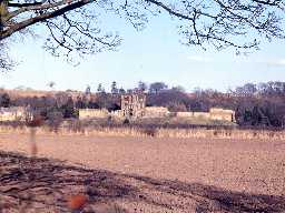 View towards Bothal Castle.