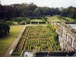 Gardens at Seaton Delaval Hall. Photo by Northumberland County Council, 1990s.