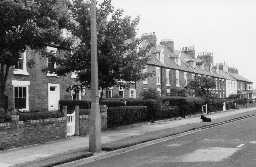 Nos 5 to 10 Bath Terrace, Blyth. Photo by Northumberland County Council, 1968.