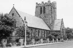 St Cuthbert's Church, Plessey Road, Blyth. Photo by Northumberland County Council, 1968.