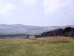 Route of Dere Street in mid Northumberland.