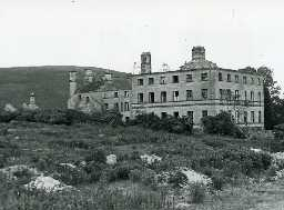 Biddlestone Hall just before demolition in the 1950s
