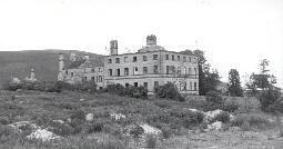 Biddlestone Hall just before demolition in the 1950s. Photo by Northumberland County Council.