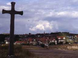 View of Alnmouth village from Church Hill. Photo Northumberland County Council, 1991.