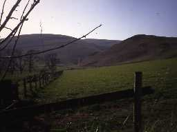 Landscape around Alwinton. Photo by Northumberland County Council, 1992.
