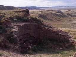 Cocklaw Dunes lime kiln, Ancroft. Photo by Glasgow University.