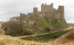 General view of Bamburgh Castle.