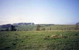 A view across fields to Housesteads. Photo by Northumberland County Council.