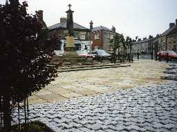 View across Belford Market Place. Photo by Northumberland County Council.