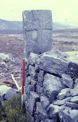 Boundary stone near Callaly Crag.