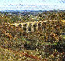 View across Lambley Viaduct. Photo by Northumberland County Council.