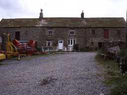 Durhamfield farmhouse and adjacent outbuildings.