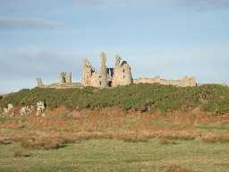 Dunstanburgh Castle.  Photo by Andy Brown, 2003.