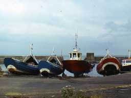 Boats at Craster Harbour.  Photo by Harry Rowland, 1983.