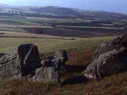 View over Ford parish. Photograph by Harry Rowland, 1980.