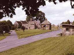 Stamfordham village. Photo Northumberland County Council, 1985.